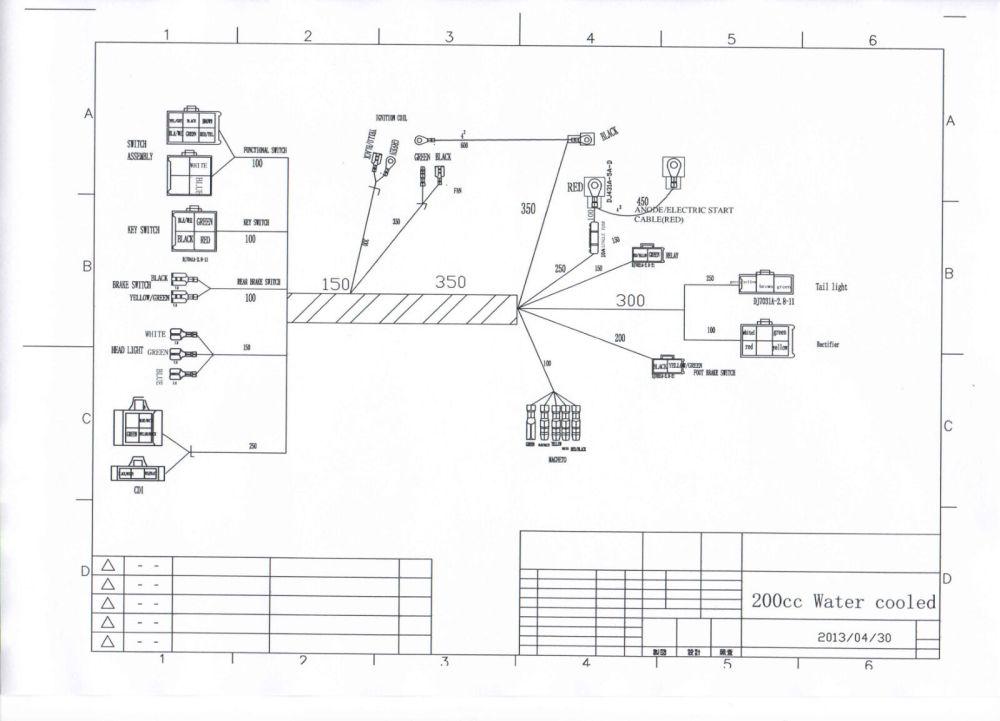 medium resolution of full electrics wiring harness cdi coil 200cc 250cc atv quad bike 200cc dirt bike wiring diagram