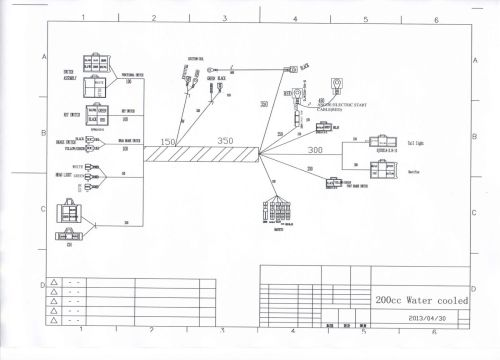 small resolution of full electrics wiring harness cdi coil 200cc 250cc atv quad bike 200cc dirt bike wiring diagram