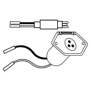 Rig Rite 445 10 AWG 3-Wire Male Trolling Motor Plug