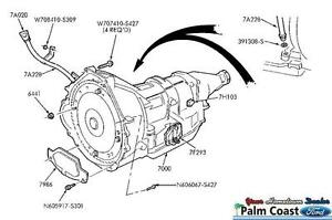 1999-2004 FORD F150 1999 F250 5.4L V8 4R70W TRANSMISSION