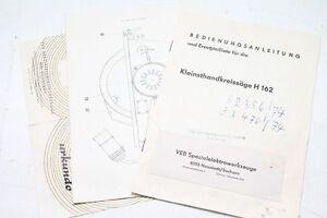 Old Manual with Certificate of Warranty Kleinhandkreissäge