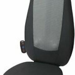 Folding Chair For Massage Cushion Covers Party City Homedics Cushions In Black Ebay Shiatsu Back And Shoulder Massager Adjustable Ease Sti