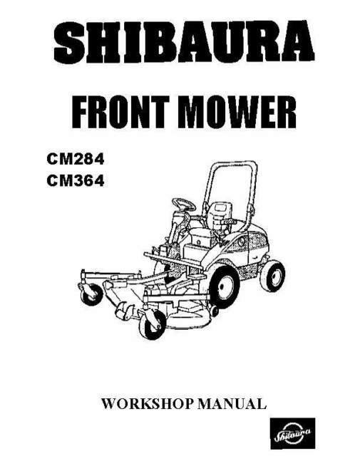 Shibaura Front Mover CM284 J843 Engine Workshop Repair