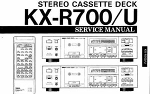 YAMAHA KX-R700 KX-R700U SERVICE MANUAL BOOK IN ENGLISH