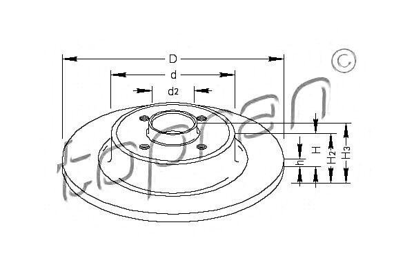Rear Axle Brake Discs x2 PCS Fits RENAULT Megane Scenic