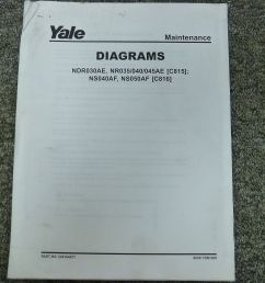 yale c815 c816 narrow aisle lift truck forklift wiring schematic diagram manual [ 1600 x 1200 Pixel ]