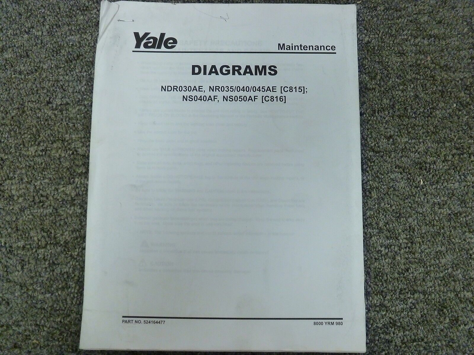 hight resolution of yale c815 c816 narrow aisle lift truck forklift wiring schematic diagram manual