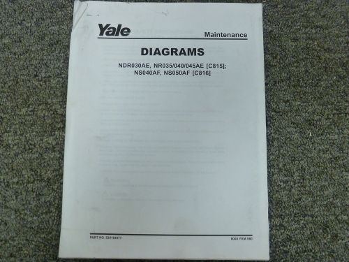 small resolution of yale c815 c816 narrow aisle lift truck forklift wiring schematic diagram manual