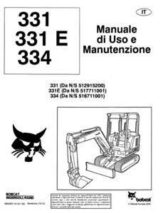 LIBRETTO Manuale uso e manutenzione BOBCAT 331-334 IN
