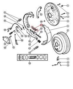 04746588 Rear Drum Brake Adjusting Spring Jeep CHEROKEE