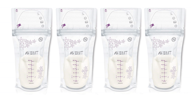 Philips AVENT Breast Milk Storage Bags, 6 Ounce, 100 Count