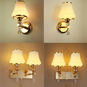 details about royal design gold indoor wall light chrome crystal glass sconce with rope switch
