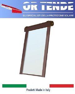 Tessuto rinforzato ai lati e borchiato. Tenda A Rullo Ermetica Con Guide Laterali Su Misura Cristal Trasparente 6 10 Ebay