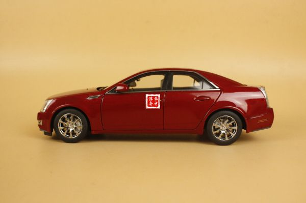 1 18 China Cadillac Cts Red Color Diecast Model Damage