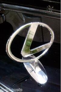 Lexus Emblem Ornament Hood Metal Chrome Lexus Badge Logo
