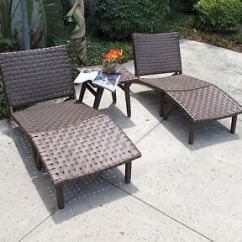 Resin Wicker Lounge Chairs Rocking Chair Glider Nursery Oxford Outdoor Patio 5 Piece Set Ebay Image Is Loading