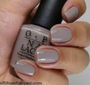 opi nail polish lacquer in taupe