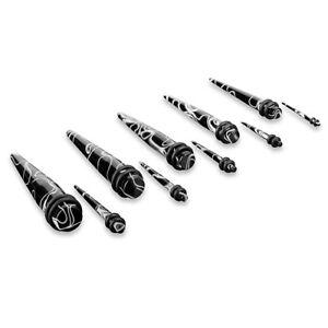 Dehnstab Dehner Expander Taper Piercing Stab 1,6mm - 16mm / Set - Marmor Look