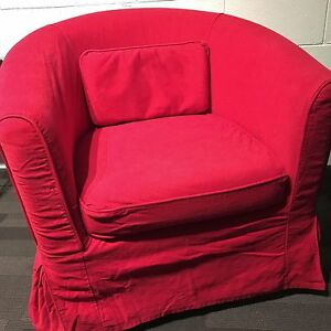 ikea chair covers tullsta mobile stand ektorp cover only idemo red image is loading