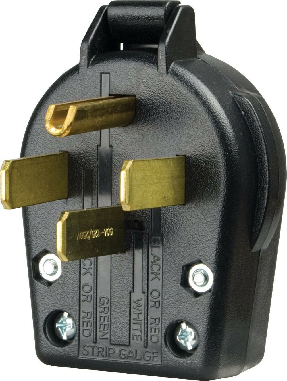 medium resolution of cooper wiring devices s 21 sp l dryer angles plug 30 amp 125 250 volt black for sale online ebay