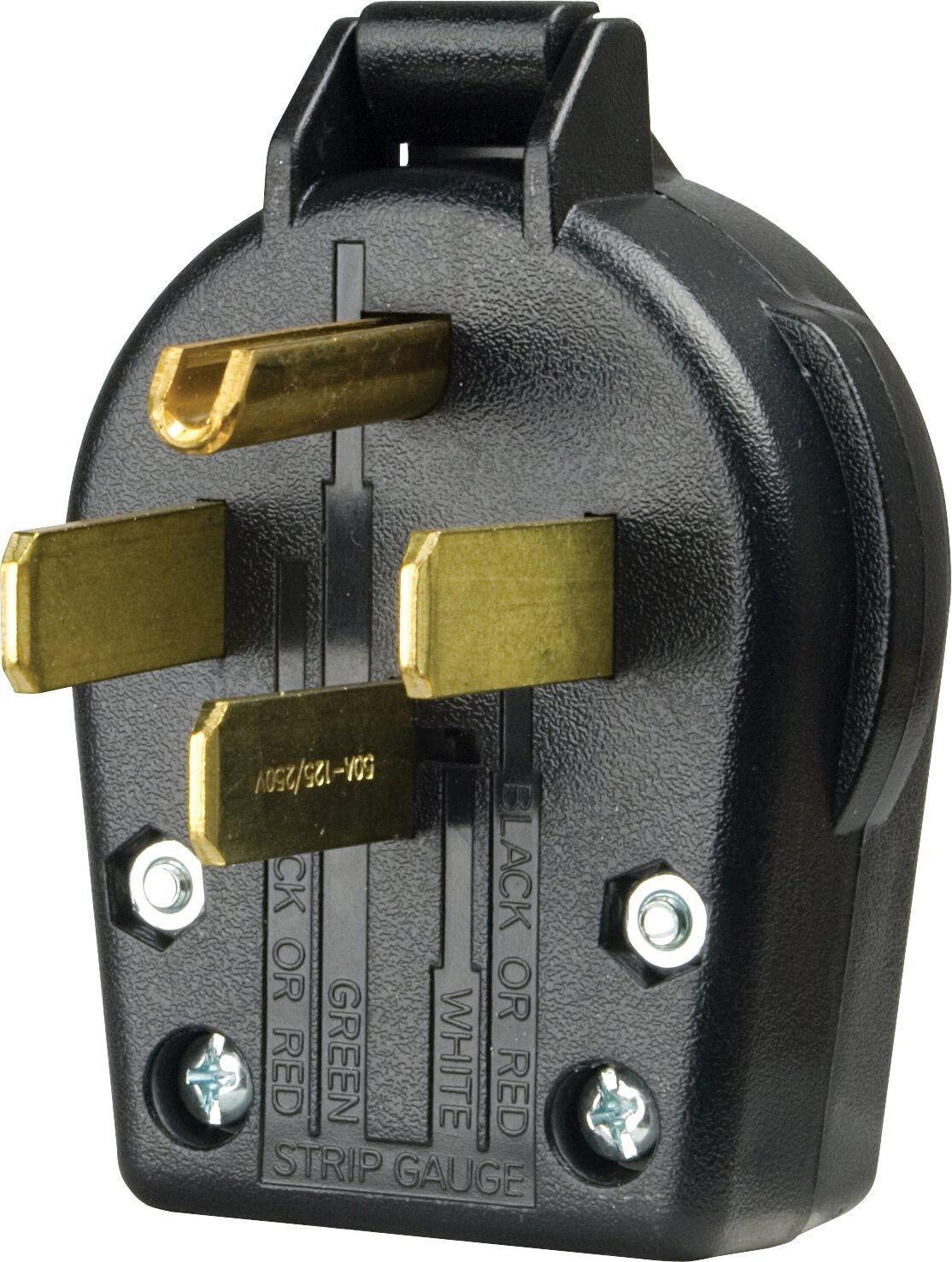 hight resolution of cooper wiring devices s 21 sp l dryer angles plug 30 amp 125 250 volt black for sale online ebay