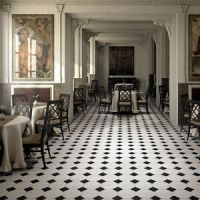Black and white marble effect porcelain Victorian style ...