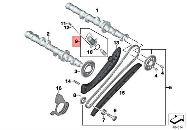Genuine BMW K40 K43 0594 0595 0591 Set Chain Tensioner