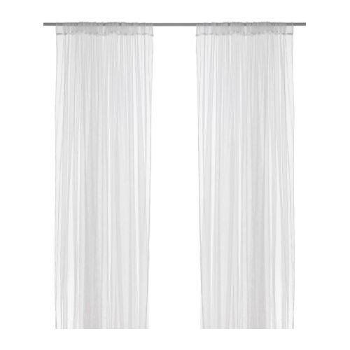 2 rideaux voilage blanc ikea lill 1 paire 280 x 300 cm pour decoration maison