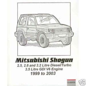 Mitsubishi Shogun/Pajero/Montero Gasolina & Diesel 99-03