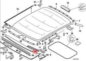 Genuine BMW E36 Compact Sliding Sun Roof Deflector Repair