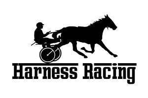 HORSE HARNESS RACING VINYL STICKER DECAL BRAND NEW FOR CAR