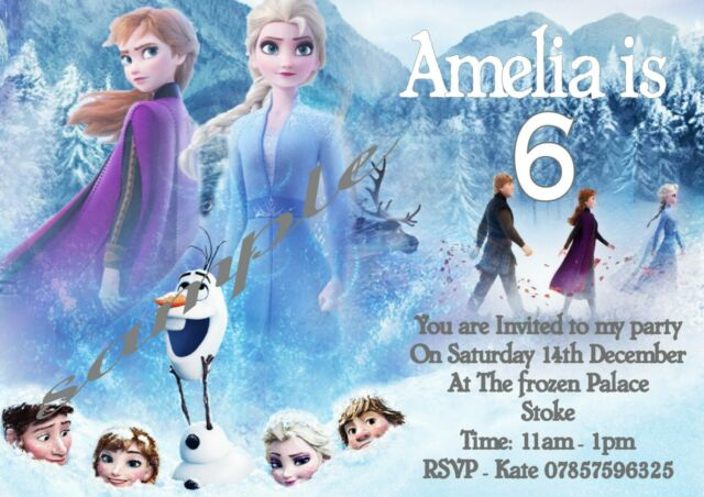 celebrations occasions frozen 10 personalised childrens party invitations home furniture diy itkart org