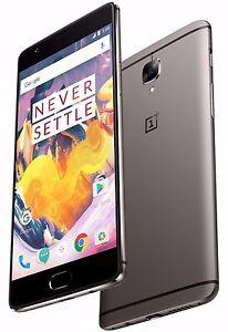 "OnePlus 3T 128GB Gunmetal Grey A3010 (FACTORY UNLOCKED) 5.5"" Full HD , 6GB RAM"