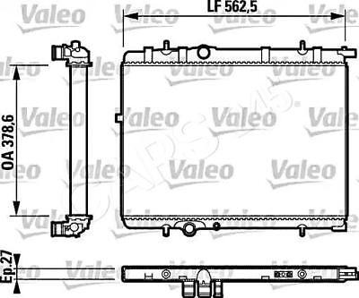 VALEO Engine Cooling Radiator Fits CITROEN C4 Xsara MPV