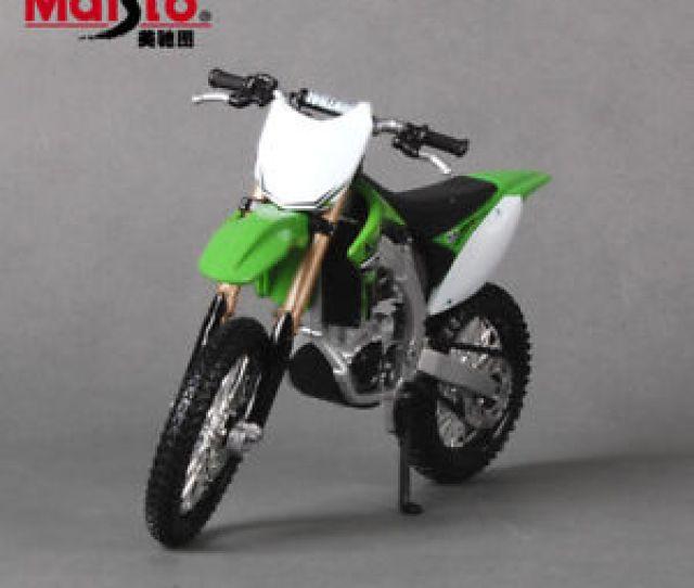 Image Is Loading Maisto Kawasaki Kx 450f Motorcycle Model Motorcross Dirt