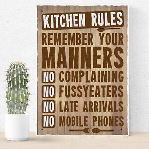 kitchen plaques amazon sinks undermount retro signs and shabby chic family friendship wall image is loading