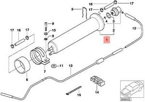 Genuine BMW E38 E39 E53 Fuel Filter With Pressure