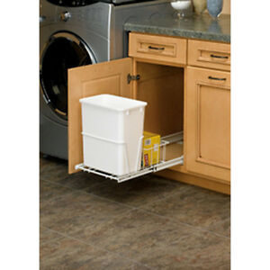 pull out trash can kitchen under sink