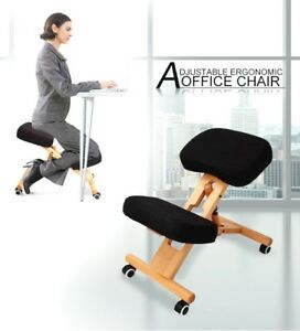 ergonomic yoga chair antique wooden rocking styles adjustable kneeling office stool stretch knee posture image is loading