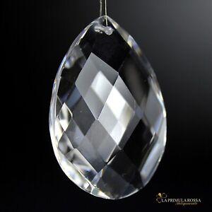 La struttura circolare è appesa con quattro catene di cristallo che si. Mandorla Di Cristallo Goccia Pendente Per Lampadario Ricambio Pendaglio In Vetro Ebay