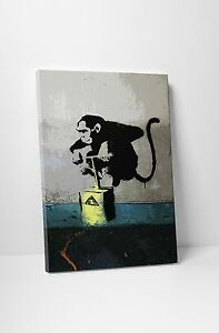 details about banksy monkey
