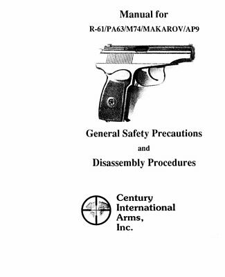 Makarov Various Pistols Instruction Manual With Free DVD
