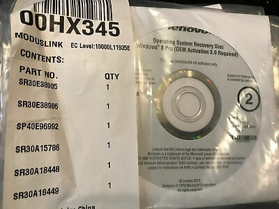Lenovo Windows 8 Recovery Media Applications and Drivers Recovery Disc DVD T440   eBay