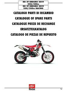 Beta Parts Manual Book Chassis & Engine 2019 RR 2T ENDURO