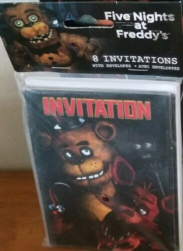 feste besondere anlasse five nights at freddy s game halloween birthday party invitations w envelopes mobel wohnen pogio be