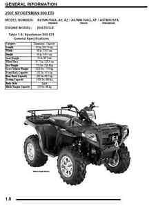 Polaris 2007 ATV Sportsman 700 EFI / 800 EFI/X2 service
