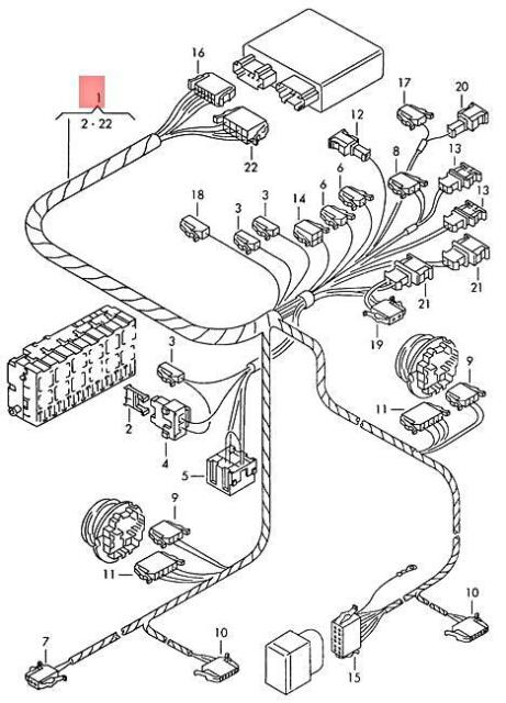 Genuine Volkswagen Wiring Harness For Anti-Theft System