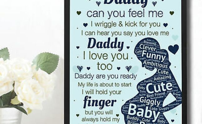 Daddy To Be Gifts Baby Shower Gift For Dad Wood Heart