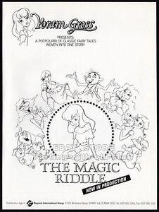 Yoram Gross__THE MAGIC RIDDLE__Original 1990 Trade AD