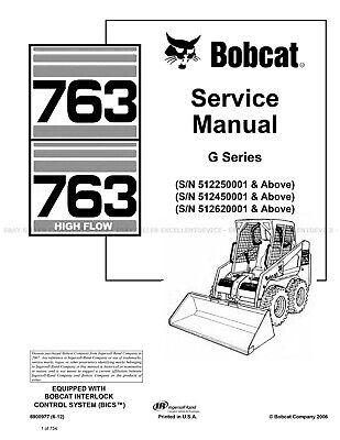 Bobcat 763 and HF G Series 2012 Update Skid Steer Printed